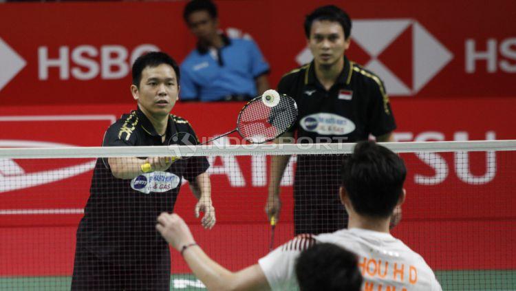 Hendra Setiawan/Mohammad Ahsan melaju ke final Indonesia Masters 2019 Copyright: © Herry Ibrahim/INDOSPORT