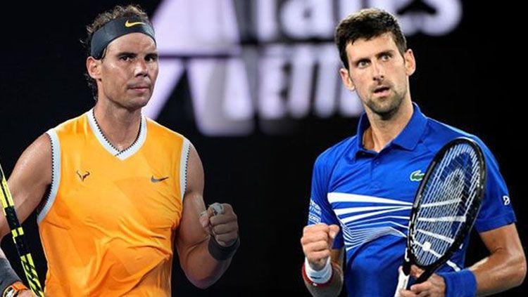 Rafael Nadal bisa melengserkan Novak Djokovic di ranking dunia meski tidak bermain di Shanghai Masters. Copyright: © Getty Images