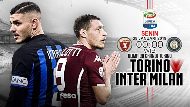 Pertandingan Torino vs Inter Milan. Copyright: © Indosport.com