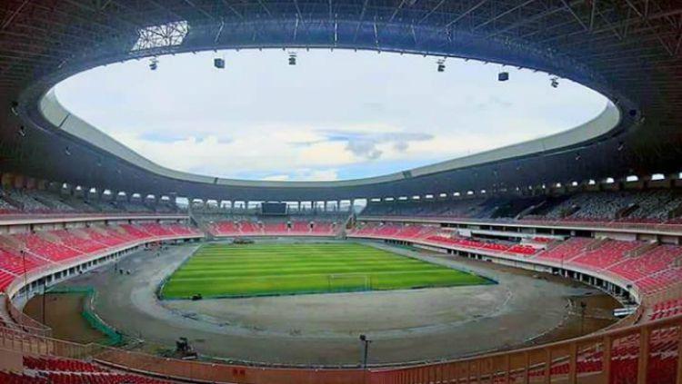 Kondisi Stadion Papua Bangkit. Copyright: © Istimewa