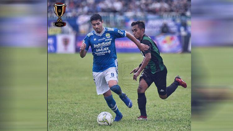 Pertandingan leg pertama Persiwa vs Persib di Piala Indonesia 2018/2019. Copyright: © Persib