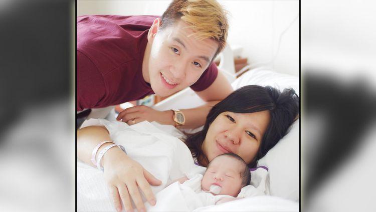 Marcus Fernaldi Gideon dan Agnes Amelinda menyambut kelahiran putra pertama, Selasa (29/01/19). Copyright: © Instagram/Doctoragnes