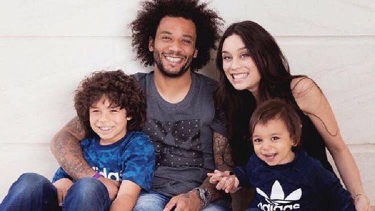 Keluarga bek veteran Real Madrid, Marcelo. Copyright: © Celebrity Unfold