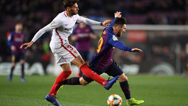 Ajang Copa del Rey akan menggelar leg 2 semifinal antara Barcelona vs Sevilla, Kamis (03/03/21) dini hari. Kalah 0-2 di leg 1, Blaugrana terancam puasa gelar. Copyright: © Getty Images