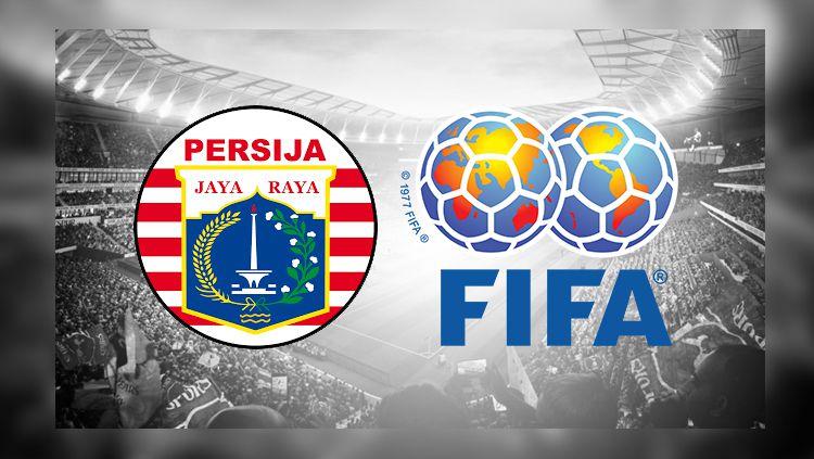 Logo Persija Jakarta dan logo FIFA Copyright: © INDOSPORT