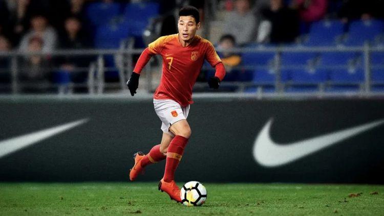 Wu Lei, jadi pemain sepak bola China pertama yang mencetak gol di level kompetisi Eropa, namun tak termasuk sesi kualifikasi. Copyright: © GettyImages