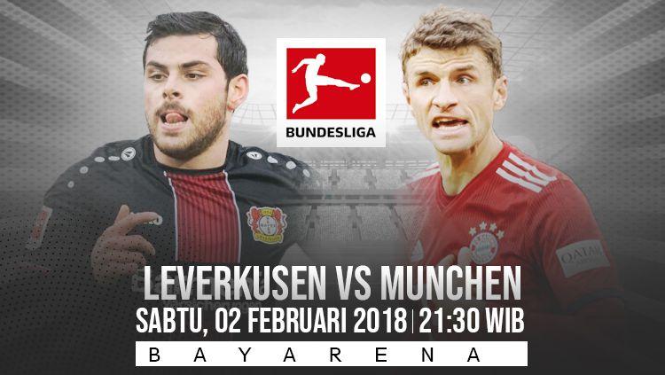 Prediksi pertandingan Bundesliga Jerman Bayern Leverkusen vs Bayern Munchen, Sabtu (02/02/19). Copyright: © INDOSPORT