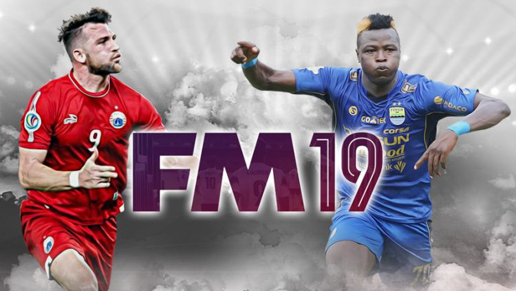 Perbadingan striker Persija dan Persib di Football Manager 19. Copyright: © Indosport.com
