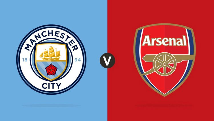 Ilustrasi logo Manchester City vs Arsenal. Copyright: © mancity.com