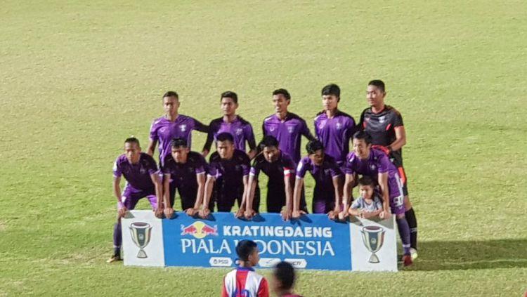 Skuad Persita kala berjumpa Arema FC, minggu (03/02/19). Copyright: © twitter.com/Persitajuara