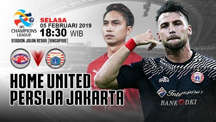 Pertandingan Home United vs Persija Jakarta. Copyright: © Indosport.com
