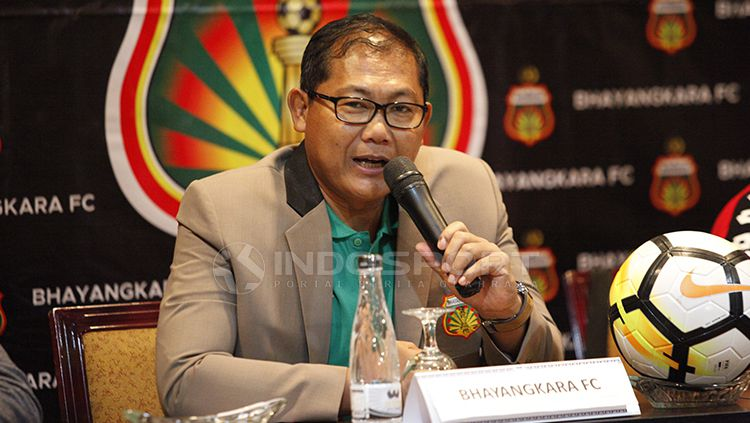 Manajer Bhayangkara FC Sumardji Copyright: © Herry Ibrahim/INDOSPORT
