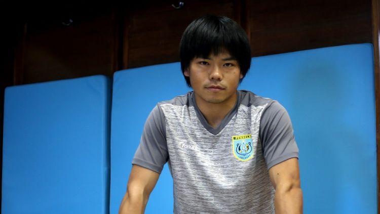 Pemain asing baru Persela Lamongan asal Jepang, Kei Hirose. Copyright: © perselafootball.com