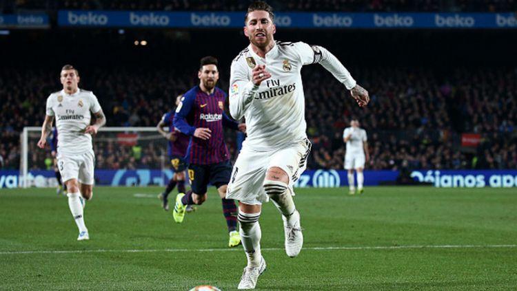 Sergio Ramos mengejar bola Copyright: © GettyImages