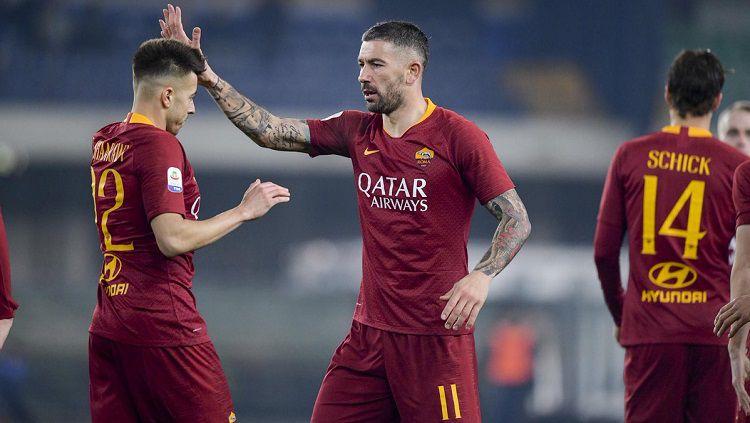 AS Roma pulangkan pemain buangannya, Stephan El Shaarawy (kiri). Copyright: © Twitter @OfficialASRoma