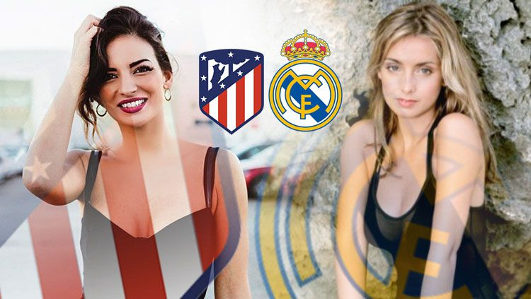 Battle WaGs Atletico Madrid vs Real Madrid Copyright: © INDOSPORT