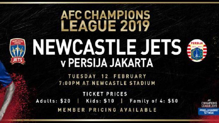 Newcastle jets vs Persija Jakarta Copyright: © Dok. Newcastle Jets