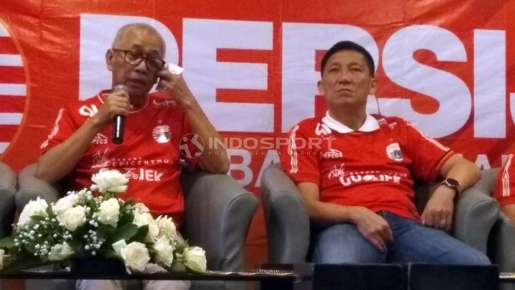 Direktur Utama Persija Kokoh Alfiat (kiri) bersam CEO Persija Ferry Paulus (kanan). Copyright: © Zainal Hasan/Indosport.com