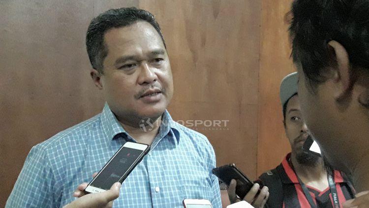 Ketua Panpel Arema FC, Abdul Haris. Copyright: © Ian Setiawan/Indosport.com