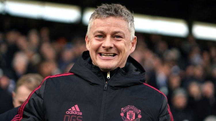 Pelatih Manchester United, Ole Gunnar Solskjaer. Copyright: © Indosport.com