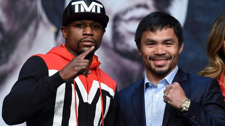 Floyd Mayweather dan Manny Pacquiao Copyright: © AFP