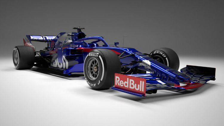 Mobil baru Toro Rosso untuk musim balap Formula 1 2019. Copyright: © Twitter/Toro Rosso
