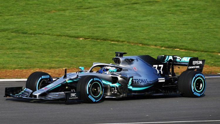 Mobil Mercedes W10 yang akan digunakan Lewis Hamilton di Formula 1 2019 Copyright: © Twitter/Mercedes-AMG F1