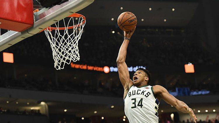 Bintang Milwaukee Bucks, Giannis Antetokounmpo. Copyright: © GettyImages