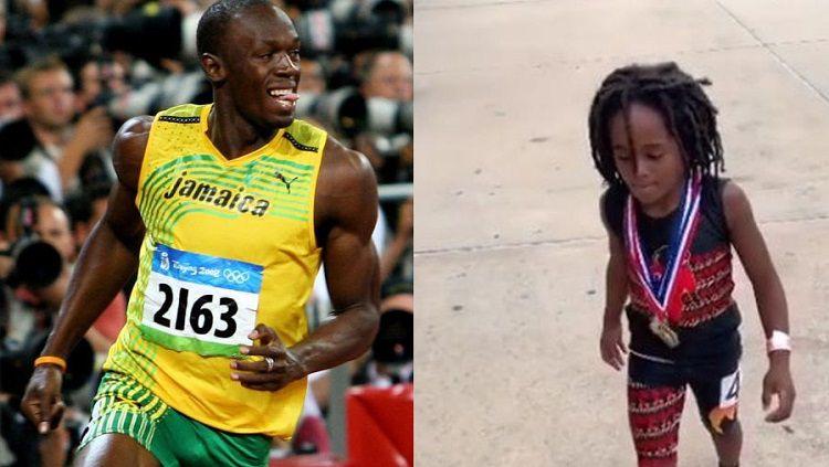 Bocah lelaki yang memiliki kemampuan lari dengan sangat cepat seperti Usain Bolt Copyright: © Wolnosc24.pl