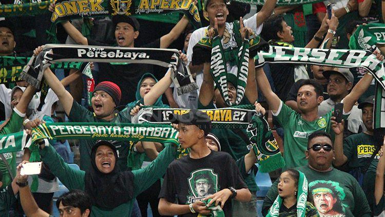 Bonek, Fans Persebaya Surabaya Copyright: © Fitra Herdian/Indosport