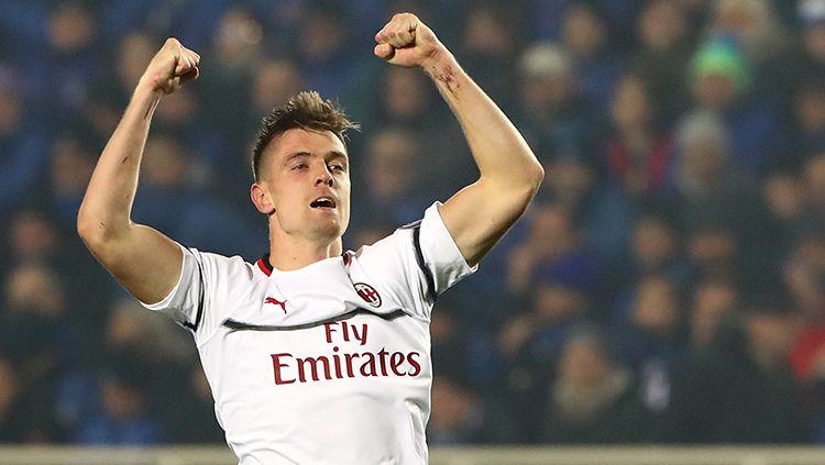 Krzysztof Piatek sukses mencetak 2 gol kala bertandang ke Atalanta Copyright: © GettyImages