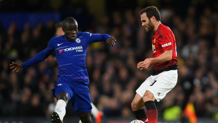 Chelsea vs Manchester United. Copyright: © INDOSPORT