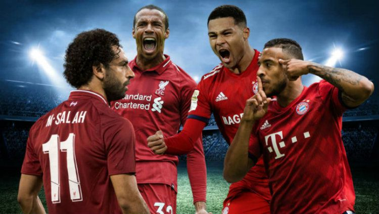Ilustrasi para pemain Liverpool dan Bayern Munchen. Copyright: © Goli Sports