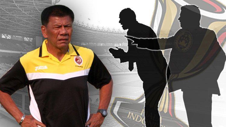 Benny Dollo dan beberapa pelatih yang pernah meraih gelar Piala Indonesia. Copyright: © INDOSPORT/Yooan Rizky Syahputra