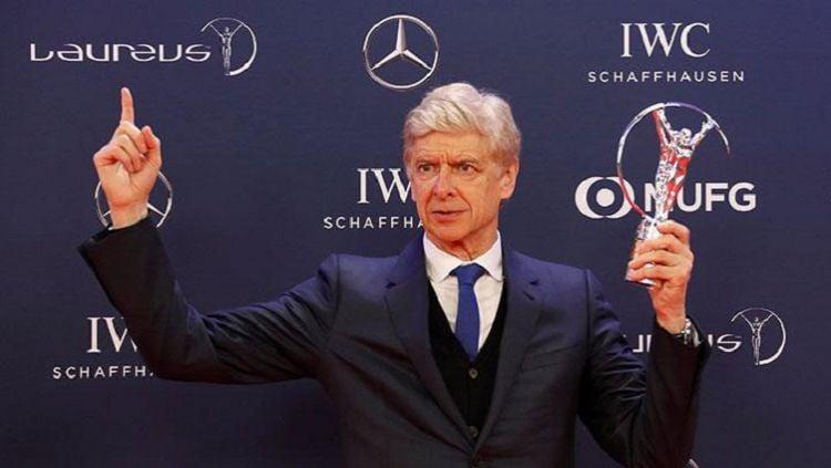 Arsene Wenger memenangkan Lifetime Achievement Laureus Awards Copyright: © Bleacher Report