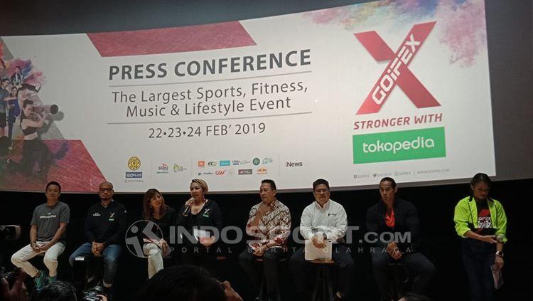 Konferensi pers acara pameran GOIFEX 2019 Copyright: © Shintya Maharani/INDOSPORT