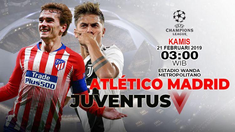 Prediksi pertandingan Atletico Madrid vs Juventus Copyright: © INDOSPORT/Yooan Rizky Syahputra