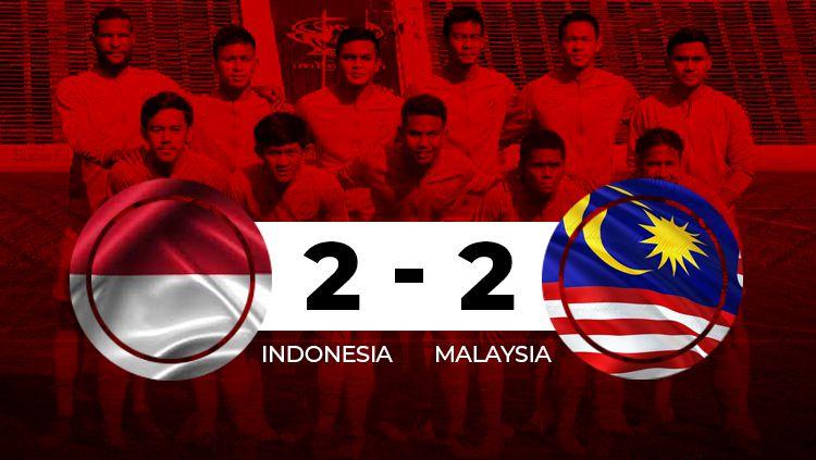 Hasil pertandingan Indonesia vs Malaysia Copyright: © INDOSPORT