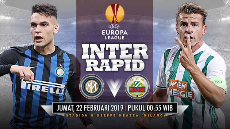Pertandingan Inter Milan vs Rapid Vienna. Copyright: © Indosport.com