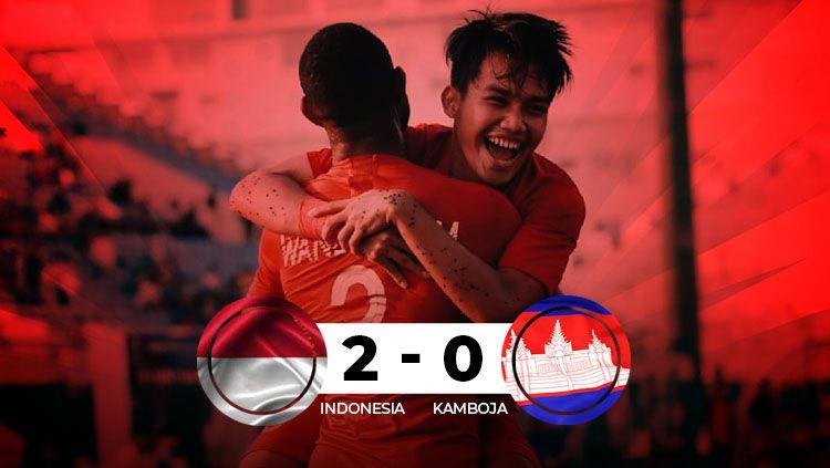 Hasil pertandingan Indonesia vs Kamboja Copyright: © INDOSPORT