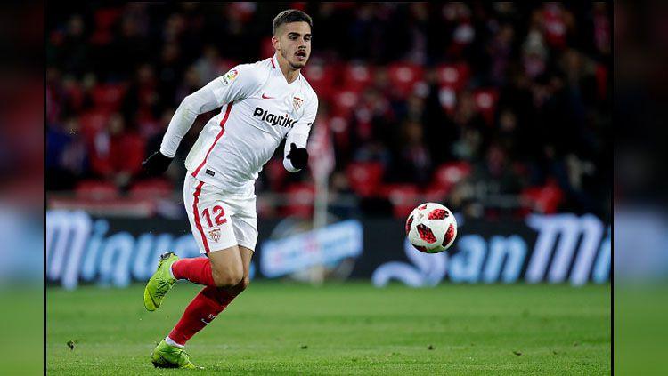 Andre Silva, striker AC Milan yang kini bermain di LaLiga Spanyol bersama Sevilla. Copyright: © GettyImages