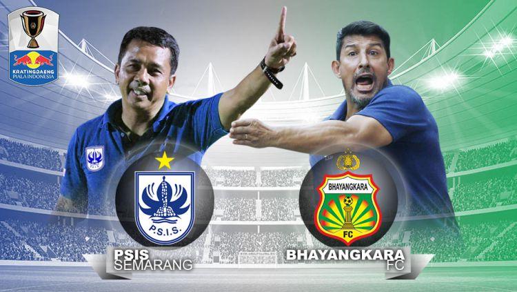 PSIS Semarang vs Bhayangkara FC. Copyright: © Indosport.com