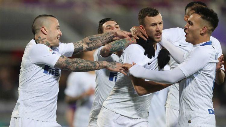 Selebrasi para pemain saat pertandingan Fiorentina vs Inter Milan, Senin (25/02/19). Copyright: © inter.it