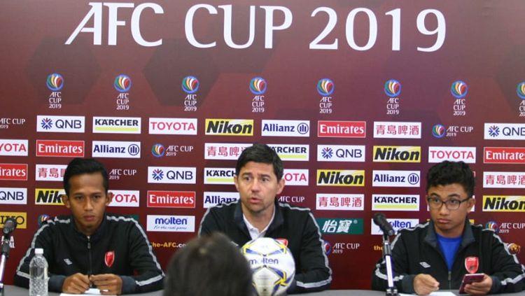 Jumpa pers jelang laga Home United vs PSM Makassar Copyright: © Media PSM