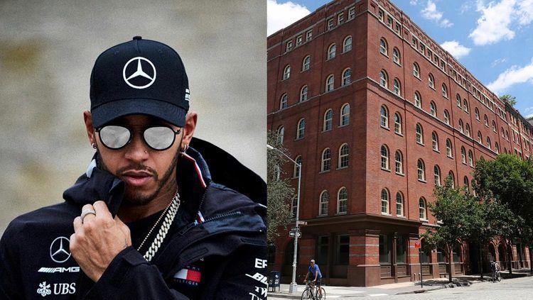 Lewis Hamilton memiliki satu unit hunian yang bertetangga dengan banyak bintang Hollywood. Copyright: © Instagram/Getty Images