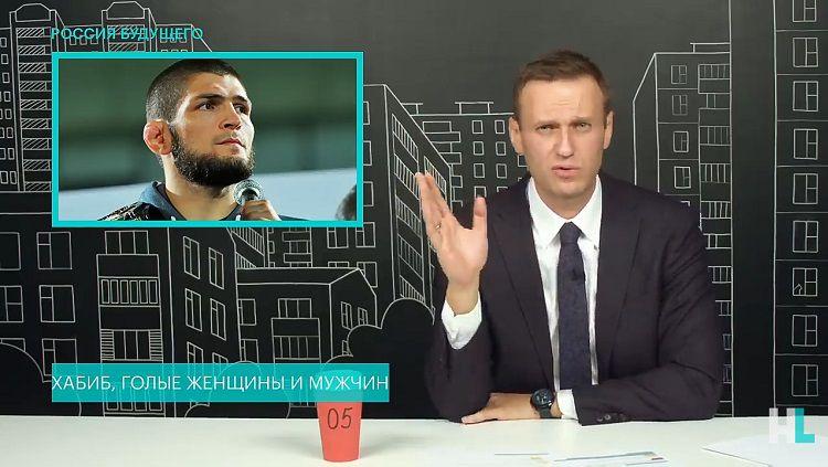 Khabib Nurmagomedov dibahas di video milik aktivis Rusia, Aleksei Navalny. Copyright: © Youtube Navalny LIVE