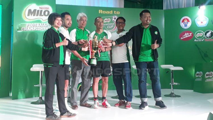 Acara jumpa pers kick-off MILO Football Championship 2019 Copyright: © Neneng Astrianti/INDOSPORT