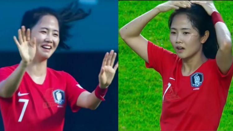 Ratu Sepak Bola Korea Selatan Bikin Pria Salah Fokus Copyright: © youtube