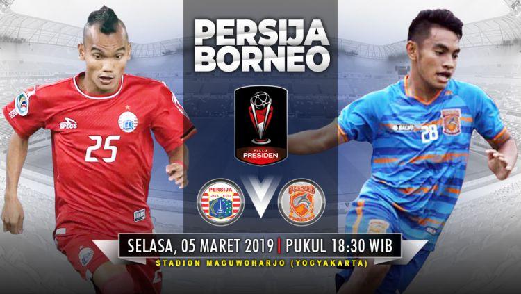 Pertandingan Persija Jakarta vs Borneo FC. Copyright: © Indosport.com