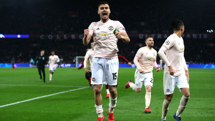 Andreas Pereira mendapat penghargaan pencetak gol terbaik Manchester United edisi Maret 2019. Copyright: © INDOSPORT